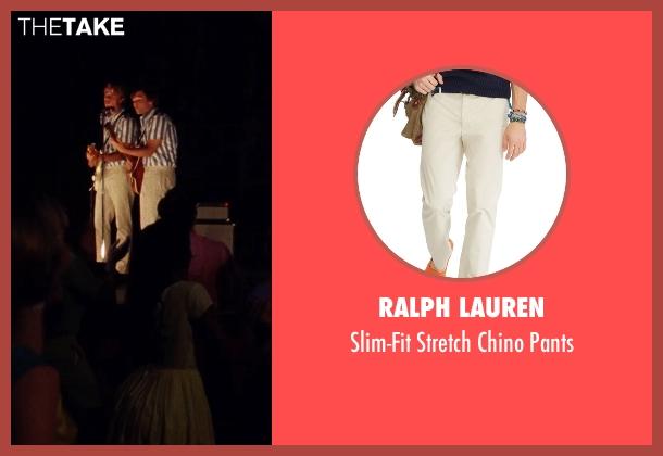 Ralph Lauren beige pants from Love & Mercy seen with Graham Rogers (Al Jardine)