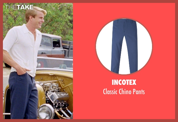 Incotex blue pants from Love & Mercy seen with Graham Rogers (Al Jardine)