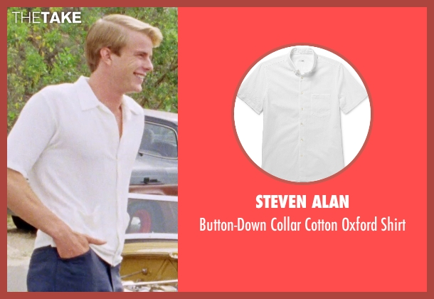 Steven Alan white shirt from Love & Mercy seen with Graham Rogers (Al Jardine)