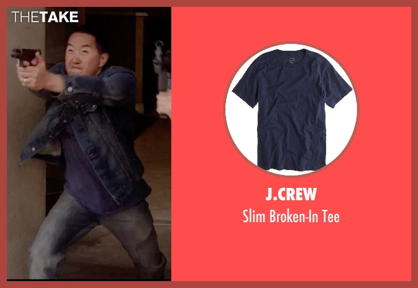 J.Crew blue tee from Vice seen with Grant Koo (John)