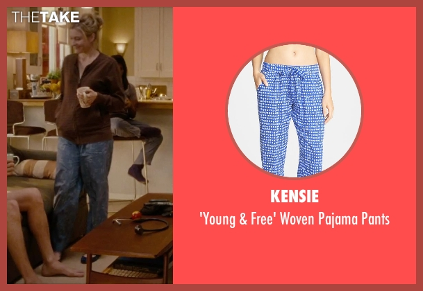 Kensie blue pants from No Strings Attached seen with Greta Gerwig (Patrice)
