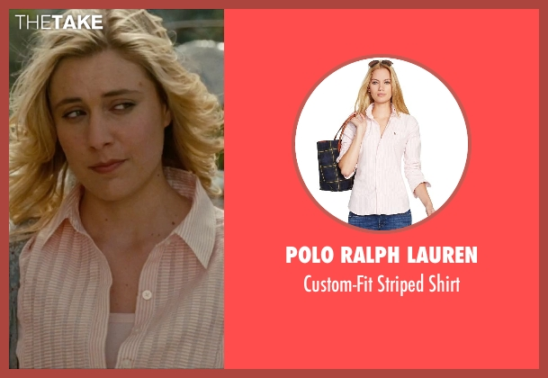 Polo Ralph Lauren pink shirt from No Strings Attached seen with Greta Gerwig (Patrice)