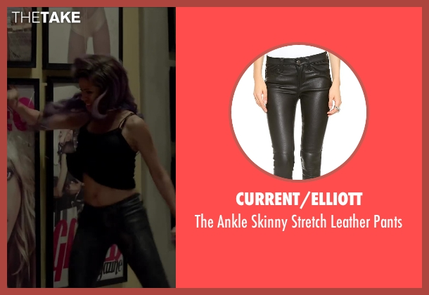 Current/Elliott black pants from Beyond the Lights seen with Gugu Mbatha-Raw (Noni Jean)
