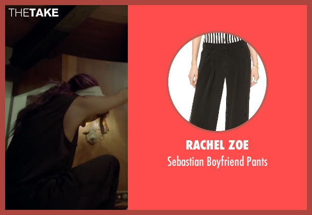 Rachel Zoe black pants from Beyond the Lights seen with Gugu Mbatha-Raw (Noni Jean)