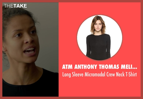 ATM Anthony Thomas Melillo black t-shirt from Beyond the Lights seen with Gugu Mbatha-Raw (Noni Jean)