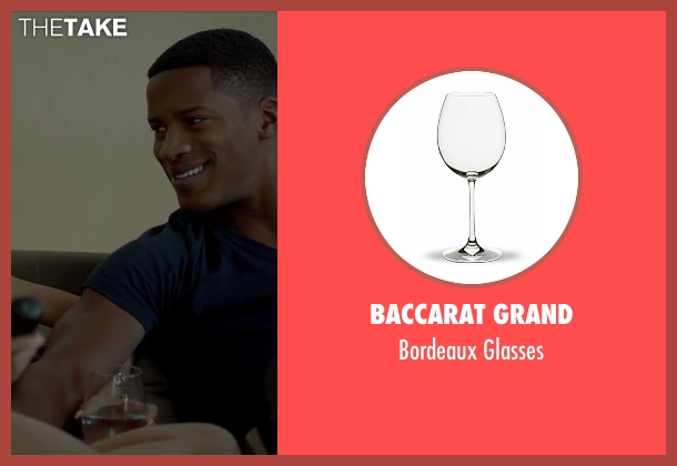 Baccarat Grand glasses from Beyond the Lights seen with Gugu Mbatha-Raw (Noni Jean)