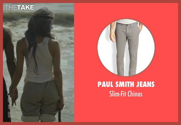 Paul Smith Jeans gray chinos from Beyond the Lights seen with Gugu Mbatha-Raw (Noni Jean)