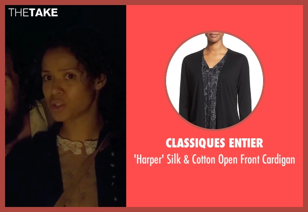 Classiques Entier black cardigan from Free State of Jones seen with Gugu Mbatha-Raw (Rachel)