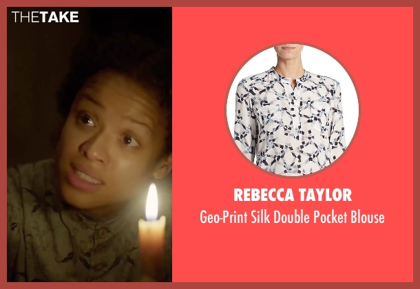 Rebecca Taylor white blouse from Free State of Jones seen with Gugu Mbatha-Raw (Rachel)