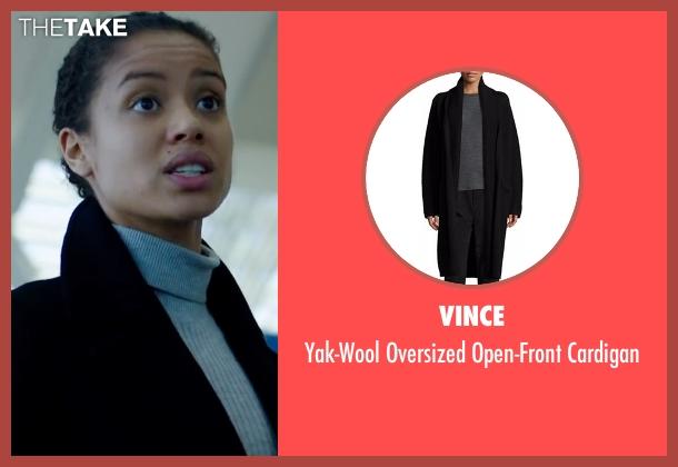 Vince black cardigan from Miss Sloane seen with Gugu Mbatha-Raw (Esme Manucharian)