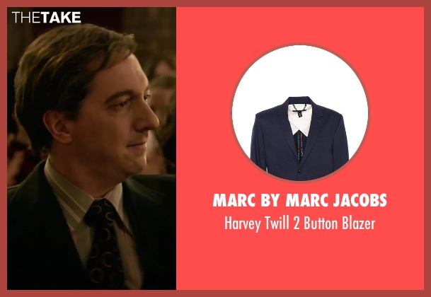Marc by Marc Jacobs black blazer from Yves Saint Laurent seen with Guillaume Gallienne (Pierre Bergé)