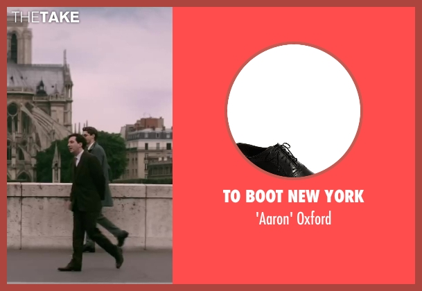 To Boot New York black oxford from Yves Saint Laurent seen with Guillaume Gallienne (Pierre Bergé)