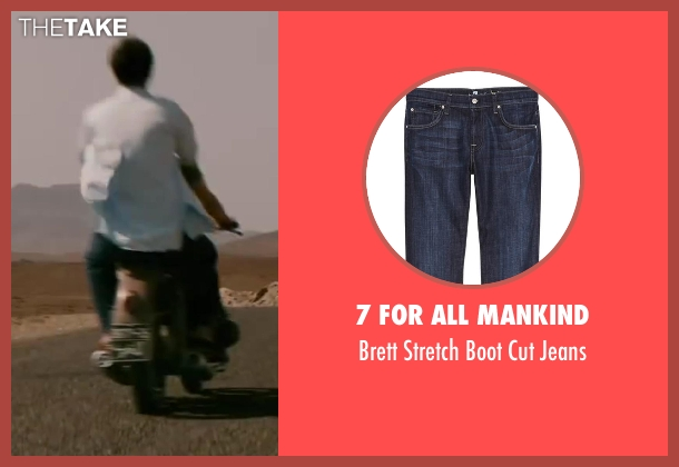 7 For All Mankind blue jeans from Yves Saint Laurent seen with Guillaume Gallienne (Pierre Bergé)