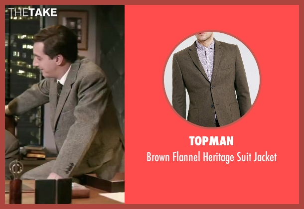 Topman brown jacket from Yves Saint Laurent seen with Guillaume Gallienne (Pierre Bergé)