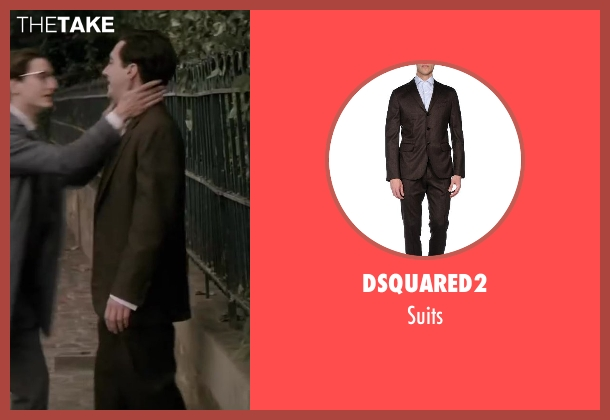 DSquared2 brown suits from Yves Saint Laurent seen with Guillaume Gallienne (Pierre Bergé)
