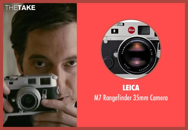 Leica camera from Yves Saint Laurent seen with Guillaume Gallienne (Pierre Bergé)
