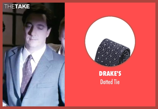 Drake's purple tie from Yves Saint Laurent seen with Guillaume Gallienne (Pierre Bergé)