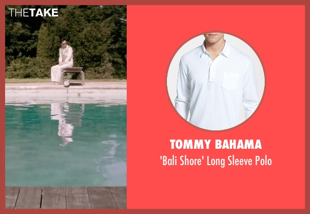 Tommy Bahama white polo from Yves Saint Laurent seen with Guillaume Gallienne (Pierre Bergé)