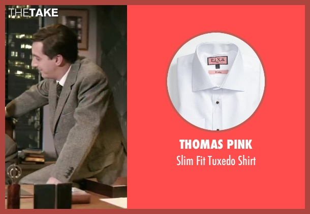 Thomas Pink white shirt from Yves Saint Laurent seen with Guillaume Gallienne (Pierre Bergé)