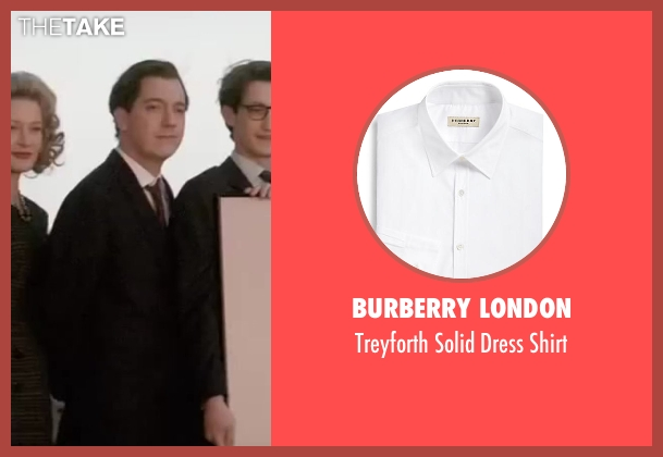 Burberry London white shirt from Yves Saint Laurent seen with Guillaume Gallienne (Pierre Bergé)