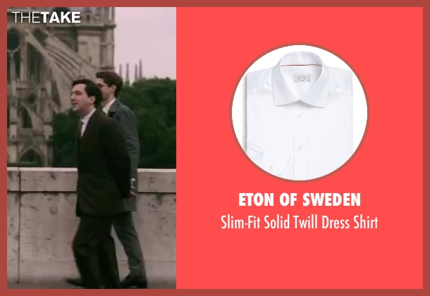 Eton of Sweden white shirt from Yves Saint Laurent seen with Guillaume Gallienne (Pierre Bergé)