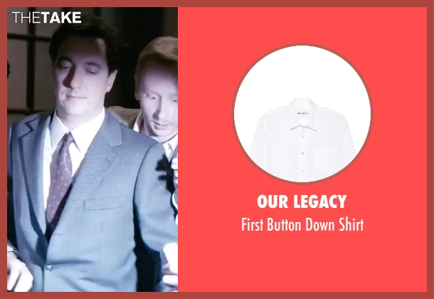 Our Legacy white shirt from Yves Saint Laurent seen with Guillaume Gallienne (Pierre Bergé)