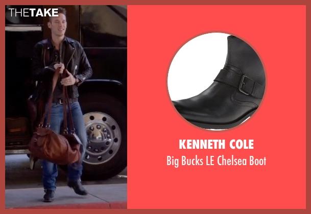 Kenneth Cole black boot from Nashville seen with Gunnar Scott  (Sam Palladio)