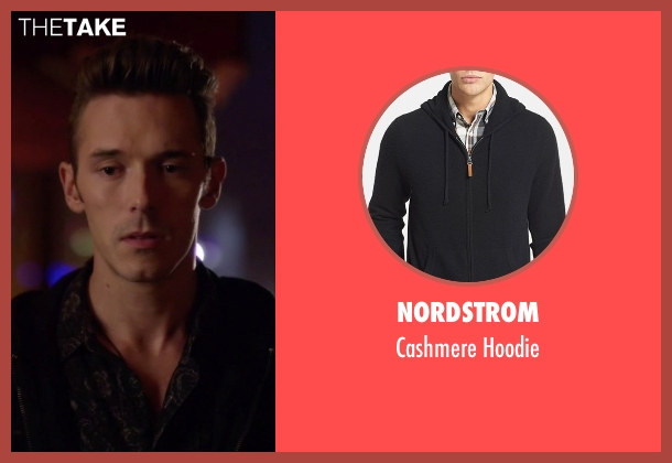 Nordstrom black hoodie from Nashville seen with Gunnar Scott  (Sam Palladio)