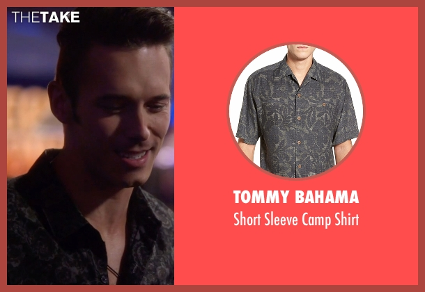 Tommy Bahama black shirt from Nashville seen with Gunnar Scott  (Sam Palladio)