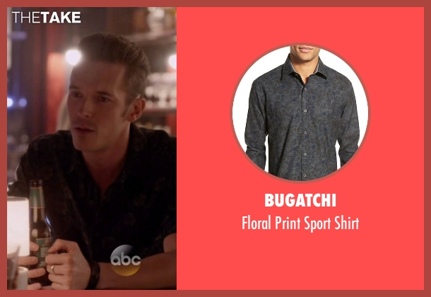 Bugatchi black shirt from Nashville seen with Gunnar Scott  (Sam Palladio)