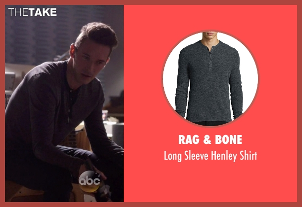 Rag & Bone gray shirt from Nashville seen with Gunnar Scott  (Sam Palladio)