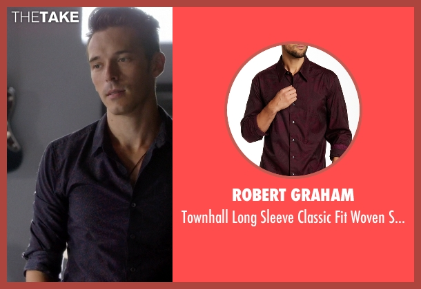 Robert Graham purple shirt from Nashville seen with Gunnar Scott  (Sam Palladio)
