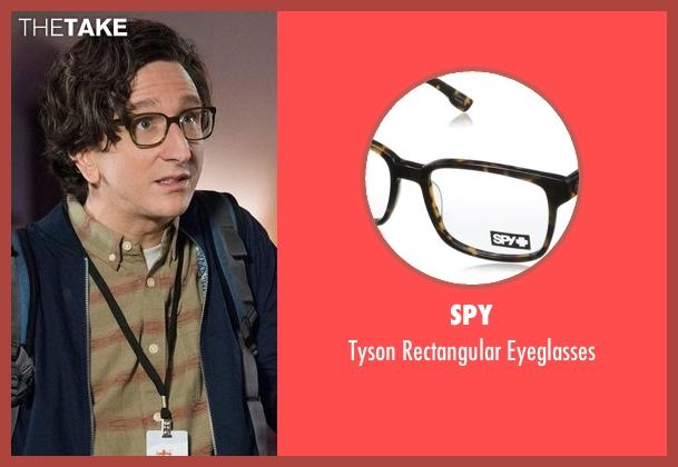 Spy brown eyeglasses from Love seen with Gus Cruikshank (Paul Rust)