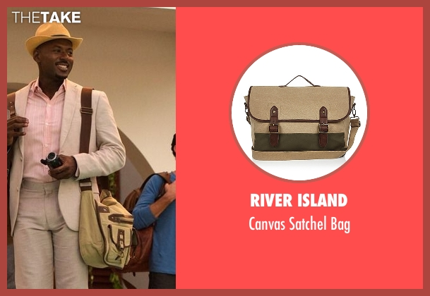 River Island beige bag from Mad Dogs seen with Gus (Romany Malco)