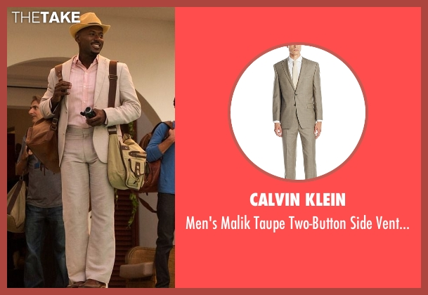 Calvin Klein beige suit from Mad Dogs seen with Gus (Romany Malco)