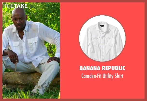 Banana Republic white shirt from Mad Dogs seen with Gus (Romany Malco)