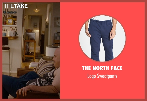 The North Face blue sweatpants from No Strings Attached seen with Guy Branum (Guy)