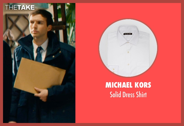 Michael Kors white shirt from Mortdecai seen with Guy Burnet (Maurice)
