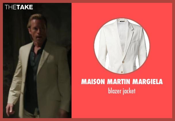 MAISON MARTIN MARGIELA white jacket from Iron Man 3 seen with Guy Pearce (Aldrich Killian)