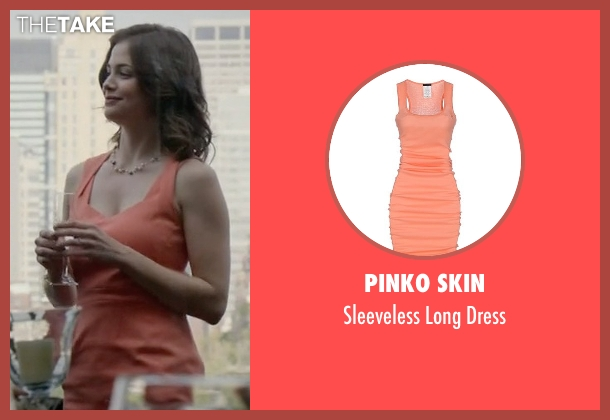 Pinko Skin orange dress from The Blacklist seen with Gwen Hollander (Conor Leslie)