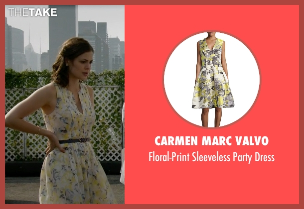 Carmen Marc Valvo yellow dress from The Blacklist seen with Gwen Hollander (Conor Leslie)