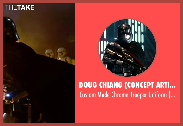Doug Chiang (Concept Artist) uniform from Star Wars: The Force Awakens seen with Gwendoline Christie (Captain Phasma)