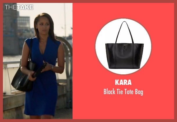 Kara black bag from Guilt seen with Gwendolyn Hall (Naomi Ryan)