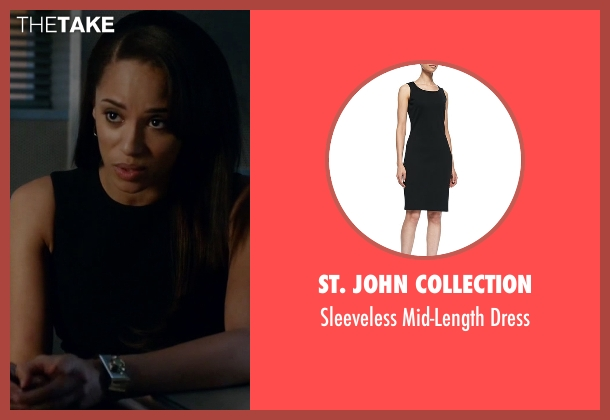 St. John Collection black dress from Guilt seen with Gwendolyn Hall (Naomi Ryan)