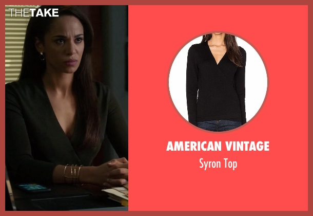 American Vintage black top from Guilt seen with Gwendolyn Hall (Naomi Ryan)