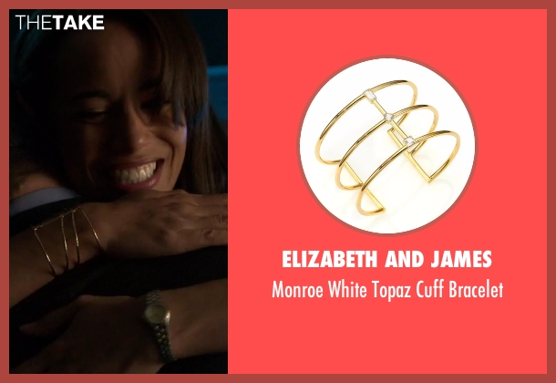 Elizabeth And James gold bracelet from Guilt seen with Gwendolyn Hall (Naomi Ryan)