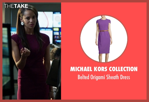 Michael Kors Collection purple dress from Guilt seen with Gwendolyn Hall (Naomi Ryan)