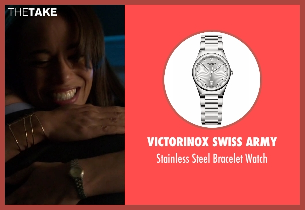 Victorinox Swiss Army silver watch from Guilt seen with Gwendolyn Hall (Naomi Ryan)