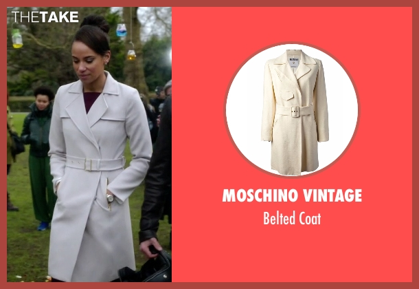 Moschino Vintage white coat from Guilt seen with Gwendolyn Hall (Naomi Ryan)