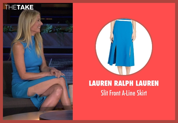 Lauren Ralph Lauren blue skirt from Chelsea seen with Gwyneth Paltrow